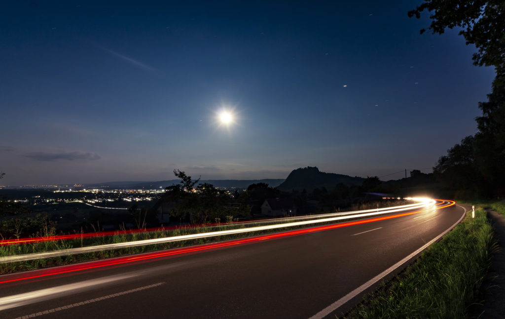 BOHNER.fotodesign Lichtspuren Hohentwiel Singen